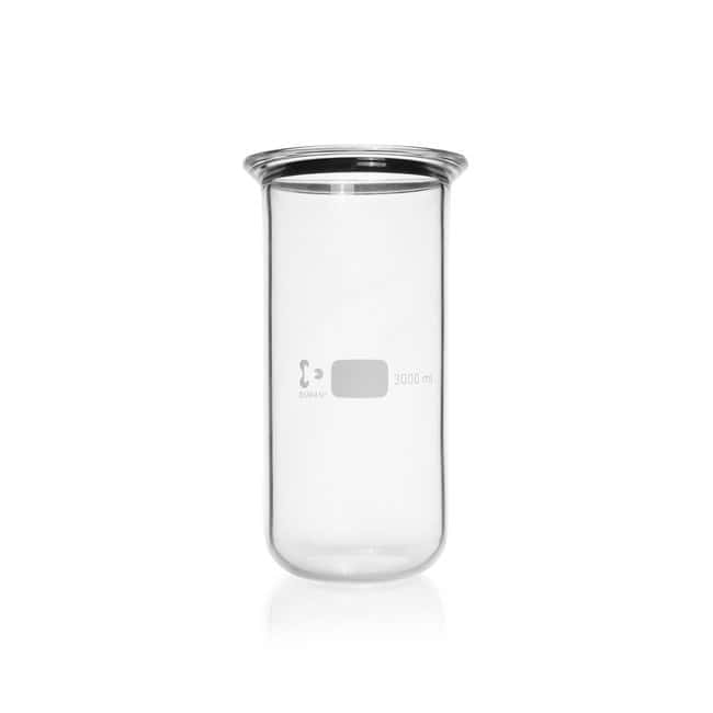 DWK Life SciencesDURAN™ Flat Flange Beaker, flange with groove: Specialty Glass Labware Glass Beads, Stopcocks and Specialty Glass Labware