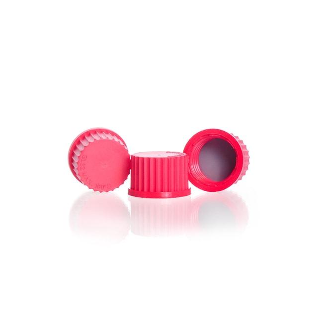 DWK Life SciencesDURAN™ Hochtemperatur-Schraubverschluss , aus PBT, mit PTFE-beschichteter Silikondichtung, Rot: Stopfen, Kappen und Verschlüsse Flaschen, Gefäße und Kannen