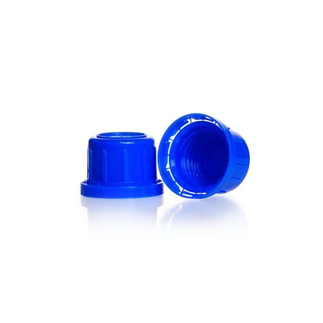 DWK Life SciencesTamper Evident Screw Cap, Narrow Mouth, Blue PP, for Soda-Lime Glass Screw-Top Bottles DIN 32 H thread Products