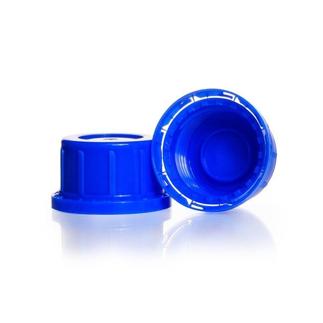 DWK Life SciencesOriginalitätsverschluss, Enghals, aus PP , Blau, für Kalk-Soda Schraubflasche: Stopfen, Kappen und Verschlüsse Flaschen, Gefäße und Kannen