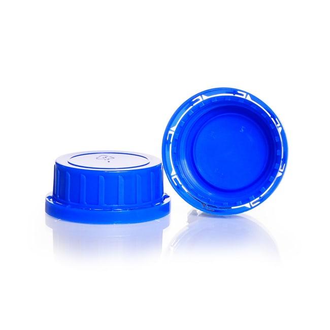 DWK Life SciencesOriginalitätsverschluss, Weithals, aus PP , Blau, für Kalk-Soda Vierkant-Schraubflaschen: Stopfen, Kappen und Verschlüsse Flaschen, Gefäße und Kannen