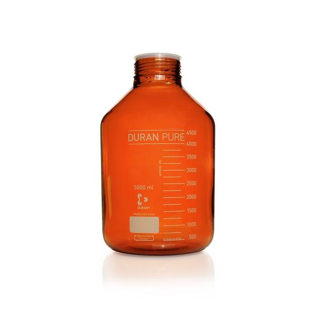 DWK Life SciencesDURAN™ PURE GLS 80™ Bottle, Amber, wide mouth 5000 mL DWK Life SciencesDURAN™ PURE GLS 80™ Bottle, Amber, wide mouth