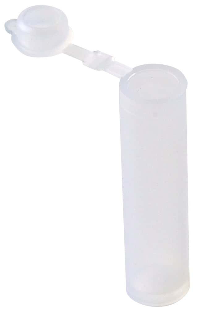 Fisherbrand Polyethylene Sample Vials with Hinged Cap:Test Tubes, Vials,