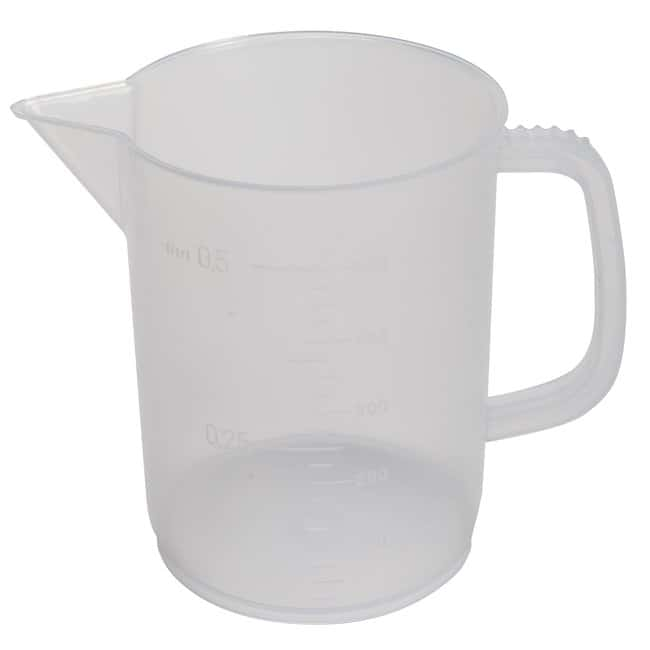 Fisherbrand™Low-Form Polypropylene Beakers with Handle