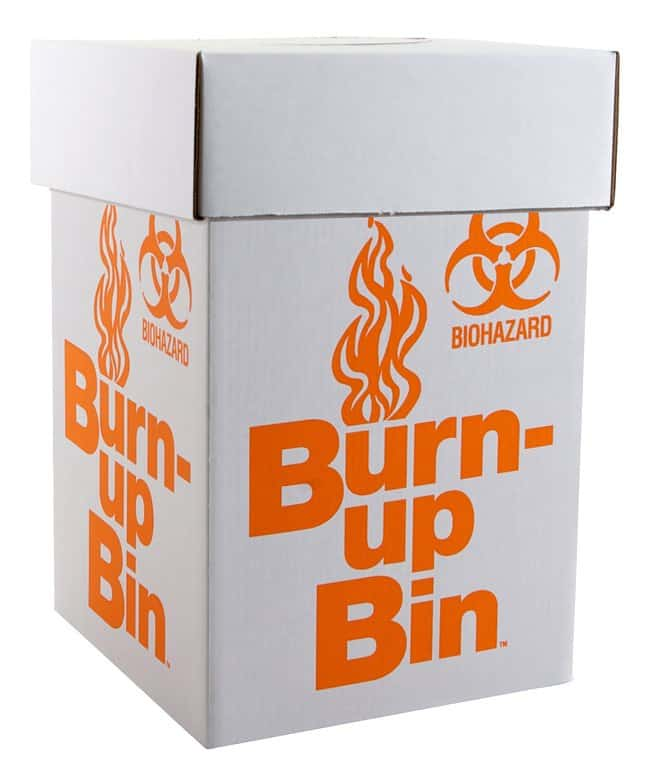 Fisherbrand Burn-up Bin Biohazard Waste Boxes Intermediate Model; 12L x