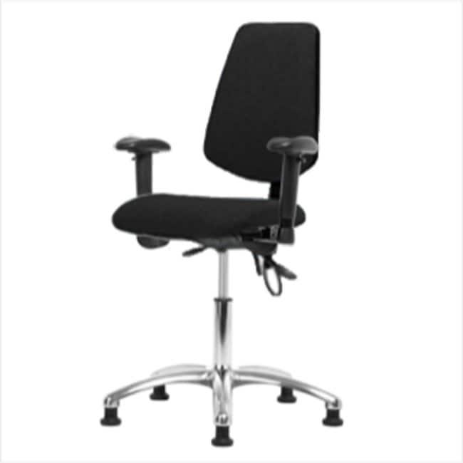 FisherbrandFabric ESD Chair - Desk Height with Medium Back, Adjustable