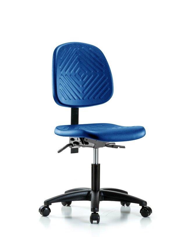 Fisherbrand Desk Height Blue Polyurethane Chair, Medium Back :Furniture,