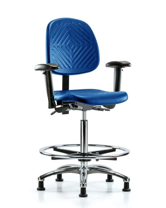 FisherbrandPoly Chair Chrome - High Bench Height with Medium Back, Adjustable