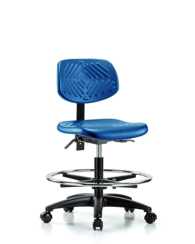 FisherbrandPolyurethane Chair - Medium Bench Height with Seat Tilt, Chrome