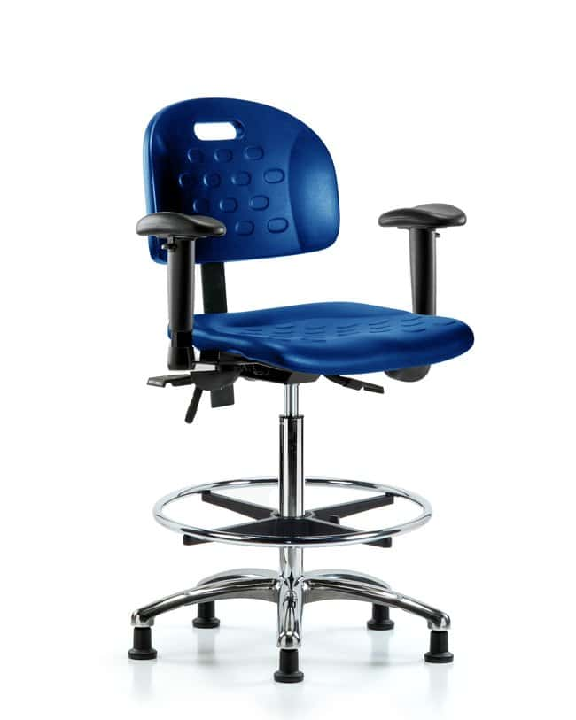FisherbrandNewport Industrial Poly Chair Chrome - High Bench Height with