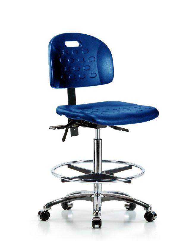FisherbrandNewport Industrial Polyurethane Chair Chrome - High Bench Height