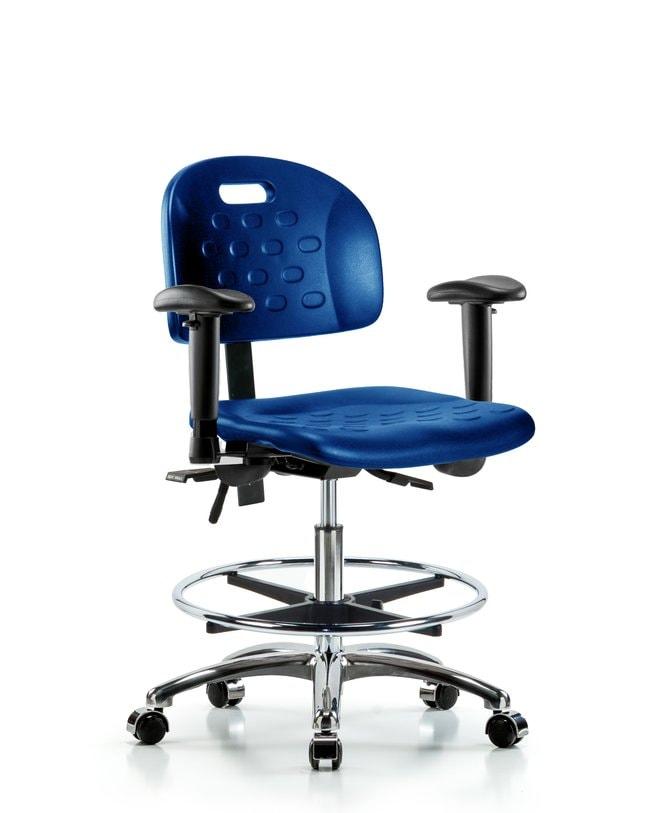 FisherbrandNewport Industrial Polyurethane Chair Chrome - Medium Bench