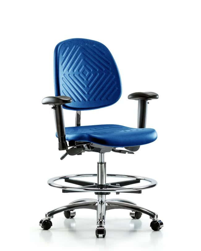 FisherbrandClass 100 Poly Clean Room Chair - Medium Bench Height with Medium