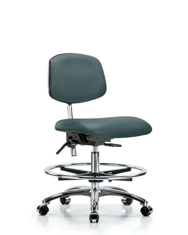 Fisherbrand™Class 100 Clean Room Chair Blue with Tilt Seat - Medium Bench Height
