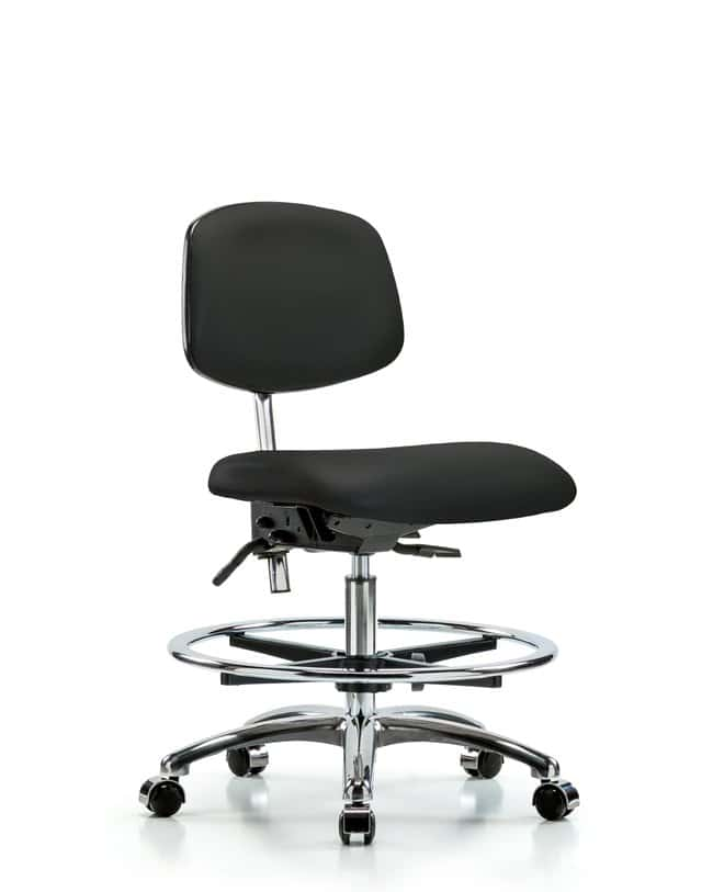 Fisherbrand™ Class 100 Clean Room Chair Black with Tilt Seat - Medium Bench Height