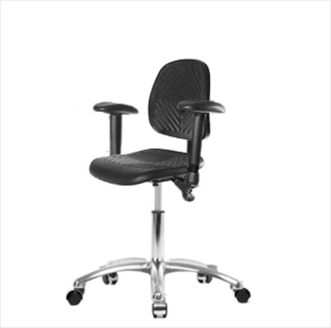 FisherbrandPolyurethane Chair Chrome - Desk Height with Medium Back, Adjustable