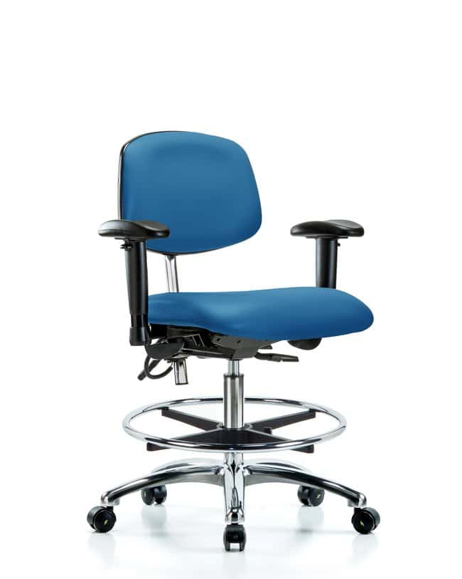 Fisherbrand Cleanroom/ESD Chair, Medium Bench Height, Chrome Frame, Vinyl