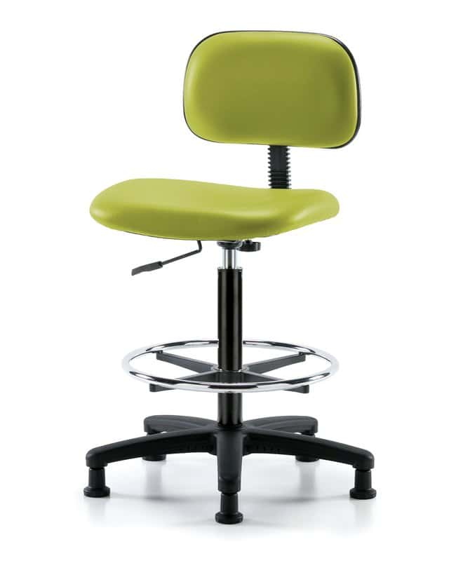 FisherbrandCore Vinyl Chair - High Bench Height with Chrome Foot Ring and