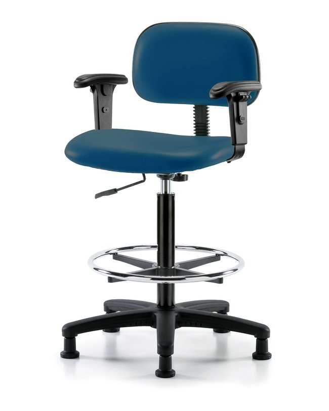 FisherbrandCore Vinyl Chair - High Bench Height with Adjustable Arms, Chrome