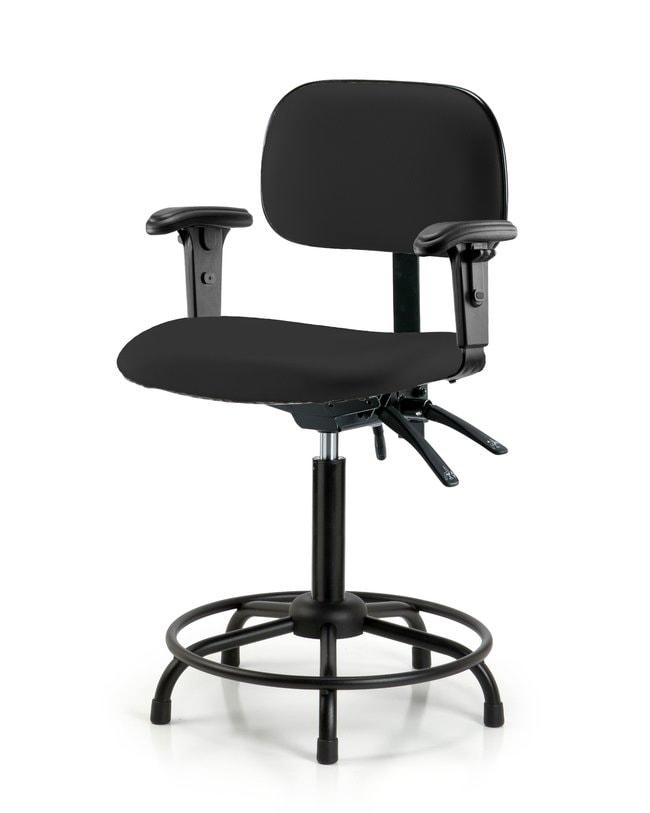 FisherbrandCore Vinyl Chair - Medium Bench Height with Round Tube Base,