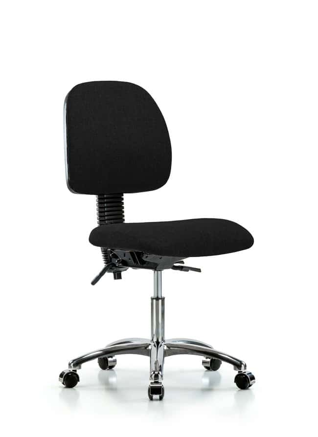 FisherbrandFabric Chair Chrome - Desk Height with Medium Back and Casters
