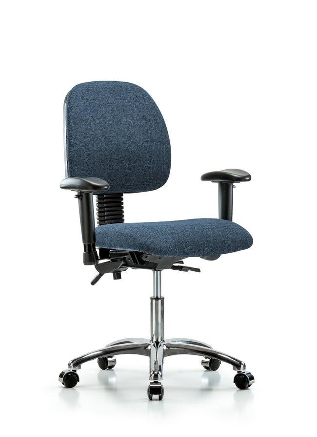 FisherbrandFabric Chair Chrome - Desk Height with Medium Back, Adjustable