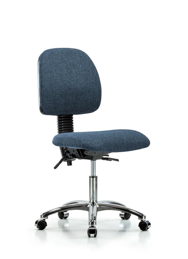 Fisherbrand Fabric Chair Chrome - Desk Height with Medium Back, Seat Tilt,