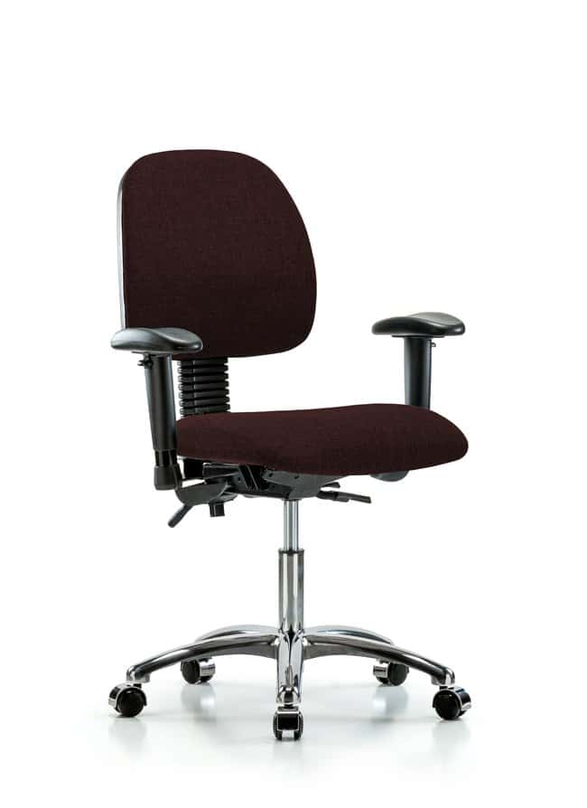Fisherbrand Fabric Chair Chrome - Desk Height with Medium Back, Seat Tilt,