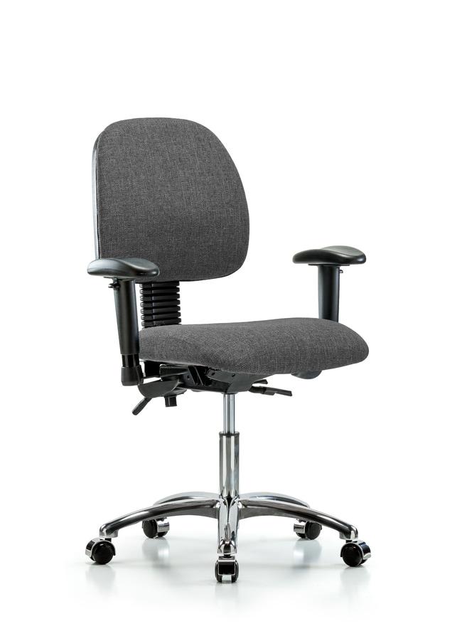 FisherbrandFabric Chair Chrome - Desk Height with Medium Back, Seat Tilt,