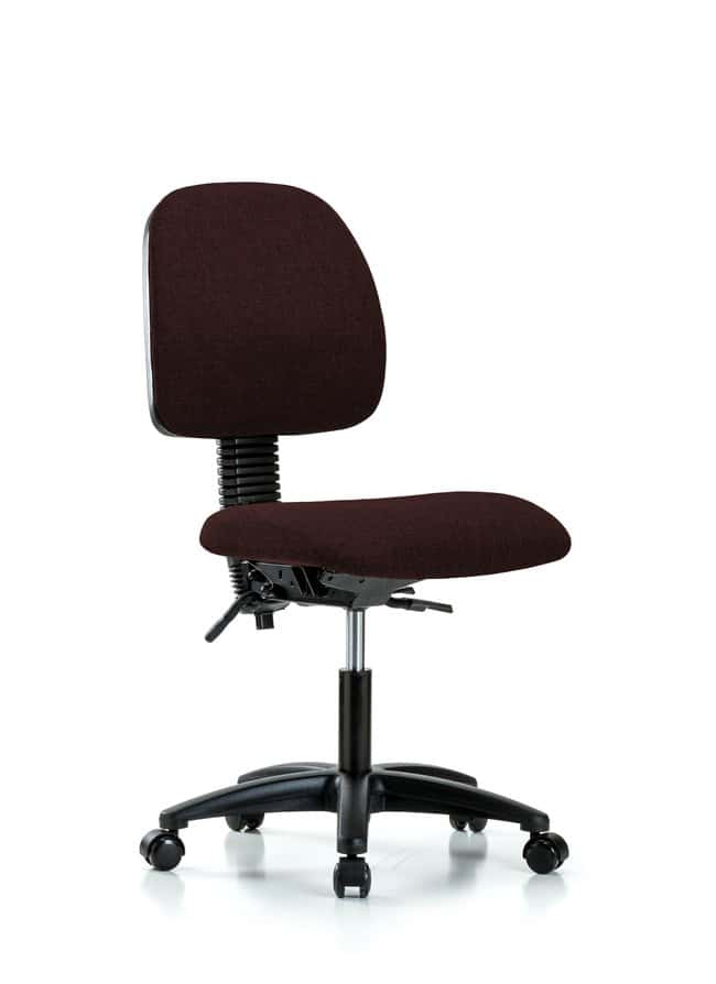 Fisherbrand Fabric Chair - Desk Height with Medium Back and Casters in