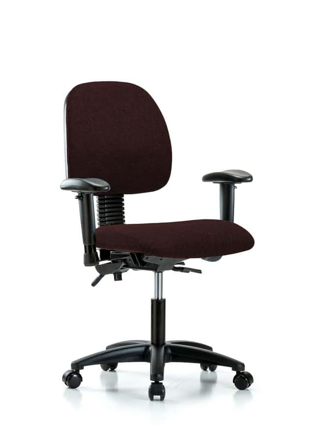 Fisherbrand Fabric Chair - Desk Height with Medium Back, Adjustable Arms,