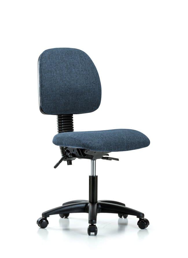 Fisherbrand Fabric Chair - Desk Height with Medium Back, Seat Tilt, and