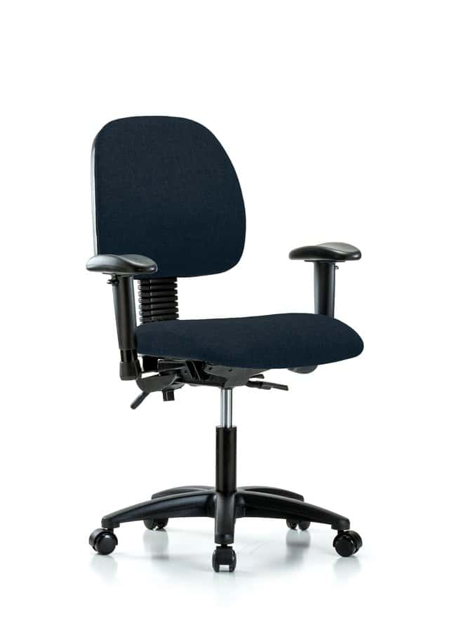 FisherbrandFabric Chair - Desk Height with Medium Back, Seat Tilt, Adjustable