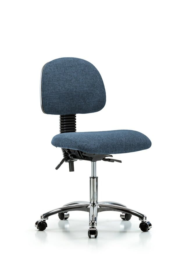 FisherbrandFabric Chair Chrome - Desk Height with Casters in Fabric:Furniture:Seating