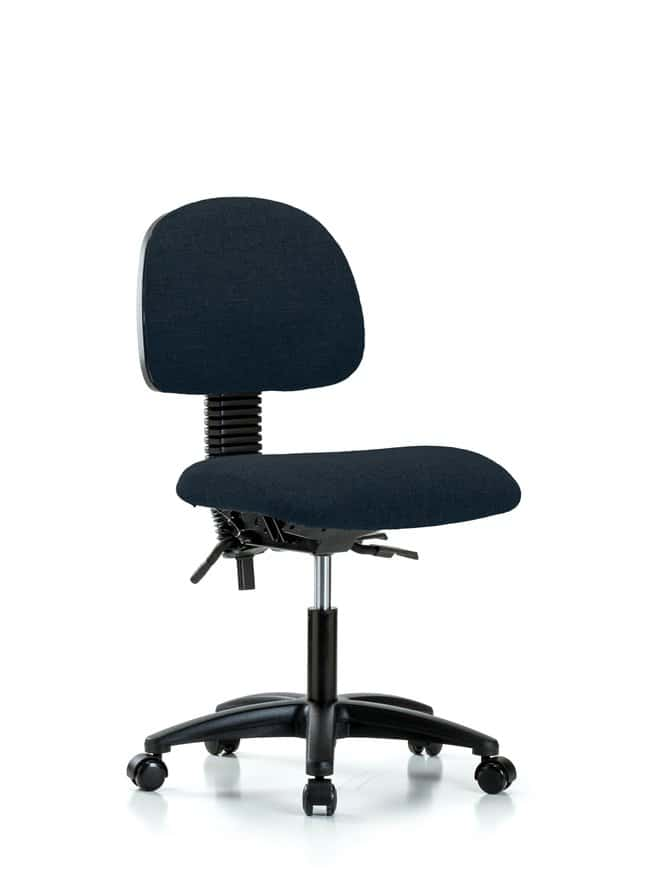 FisherbrandFabric Chair - Desk Height with Seat Tilt and Casters in Fabric:Furniture:Seating