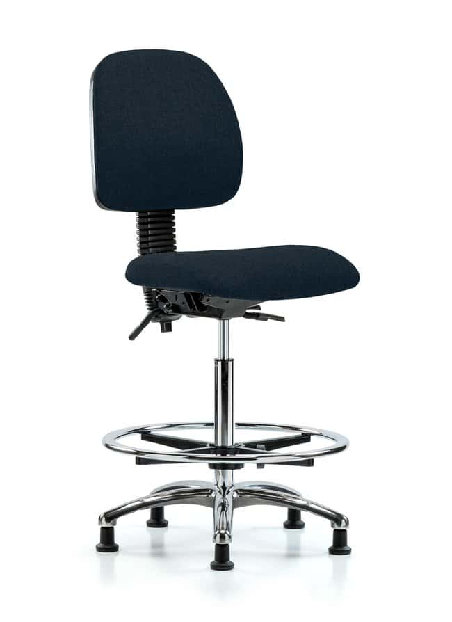 FisherbrandFabric Chair Chrome - High Bench Height with Medium Back, Seat