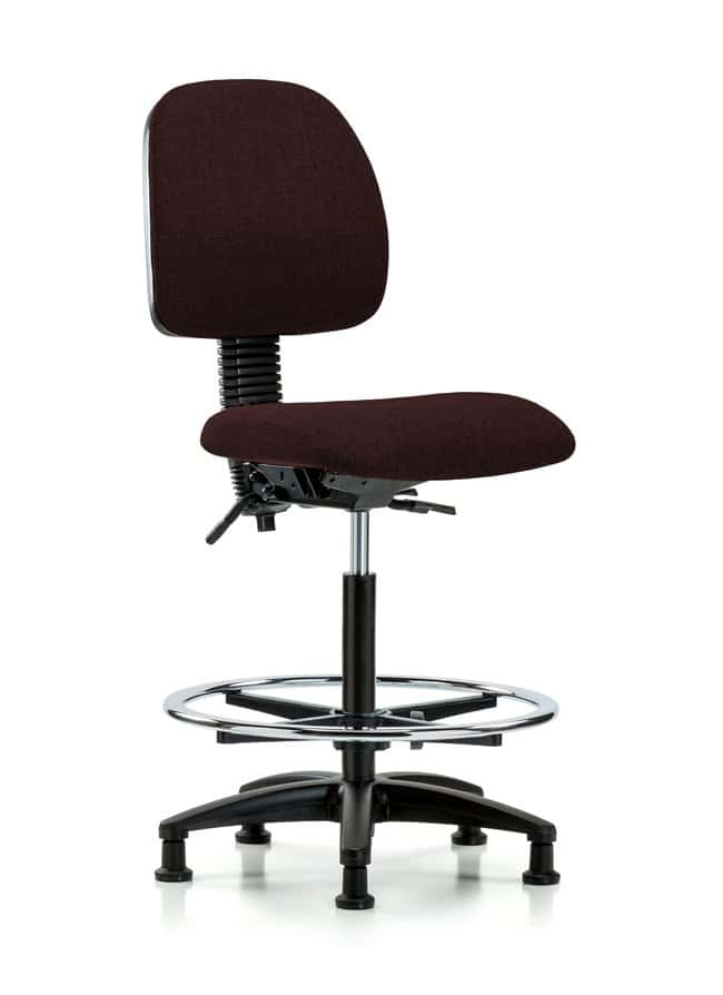FisherbrandFabric Chair - High Bench Height with Medium Back, Seat Tilt,