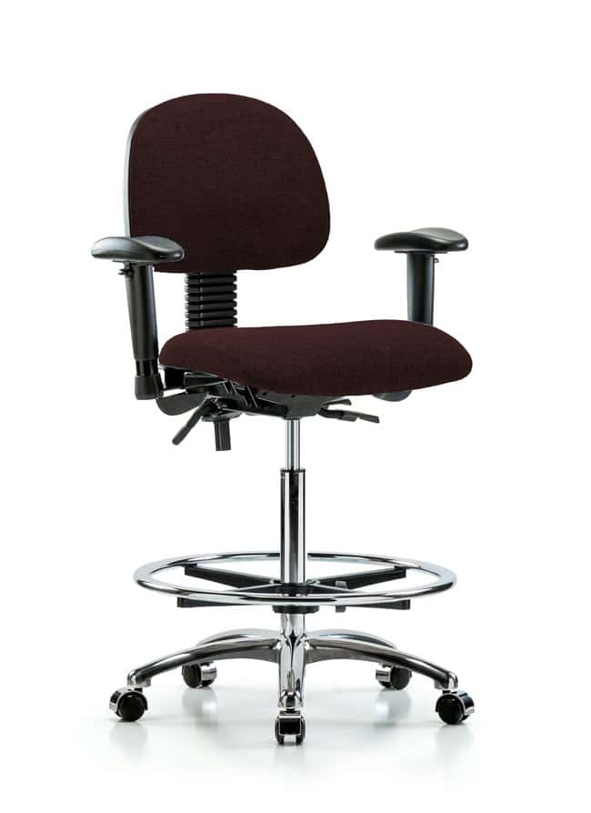 FisherbrandFabric Chair Chrome - High Bench Height with Seat Tilt, Adjustable