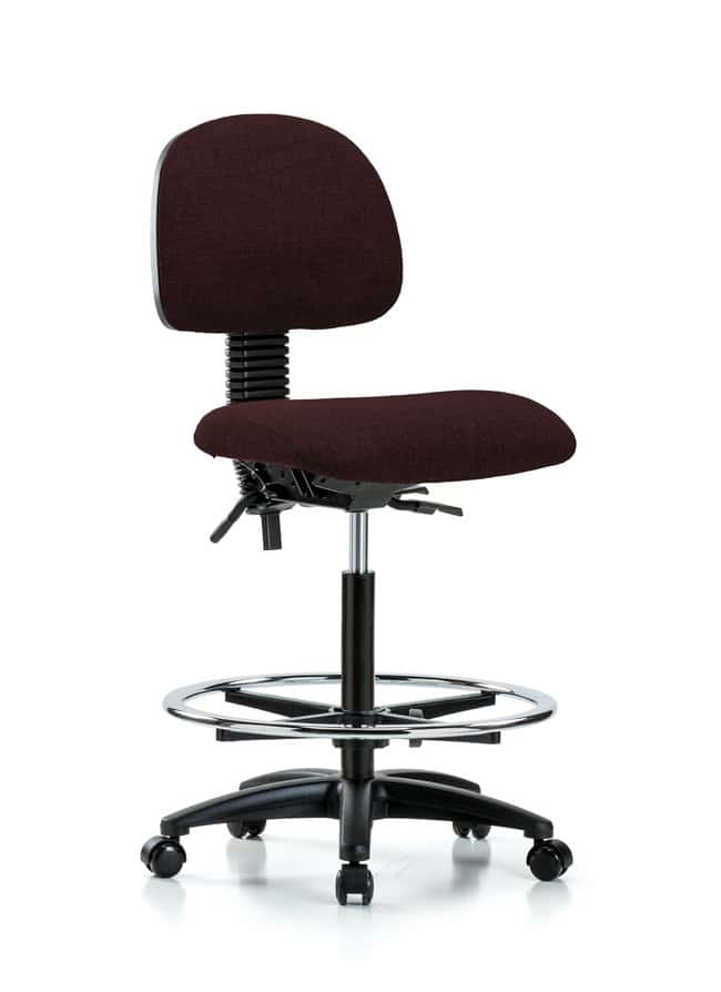 FisherbrandFabric Chair - High Bench Height with Seat Tilt, Chrome Foot