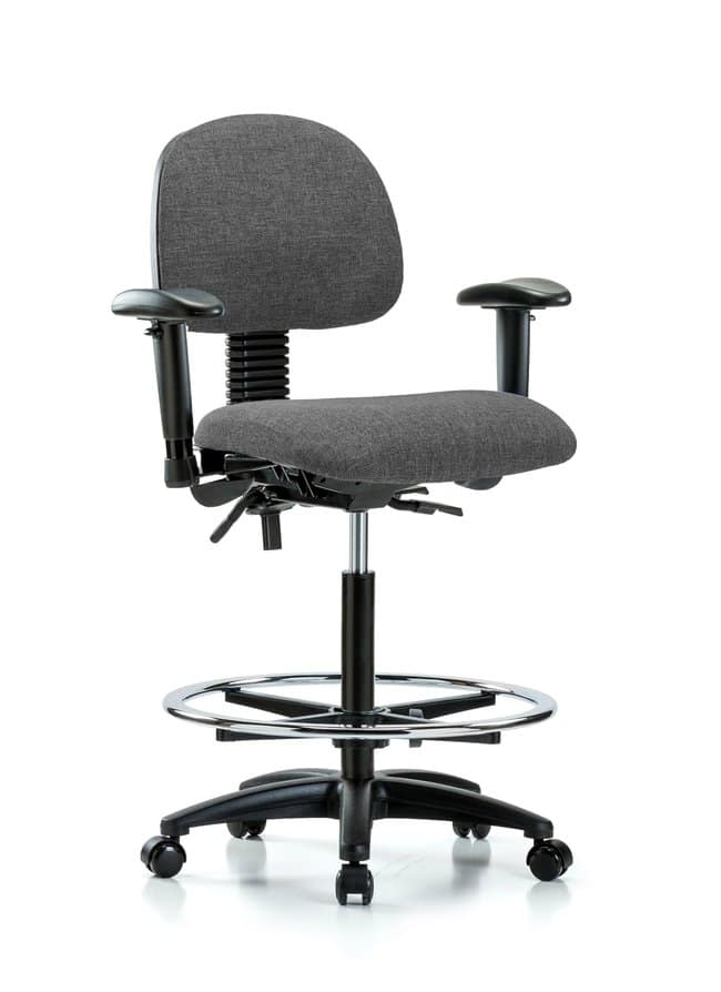 FisherbrandFabric Chair - High Bench Height with Seat Tilt, Adjustable