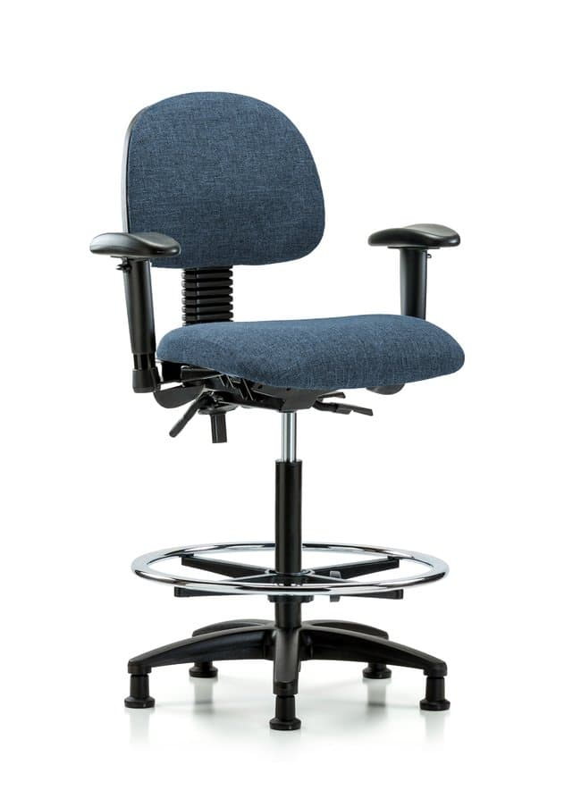 Fisherbrand Fabric Chair - High Bench Height with Seat Tilt, Adjustable