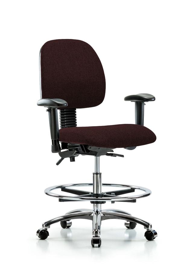 FisherbrandFabric Chair Chrome - Medium Bench Height with Medium Back,