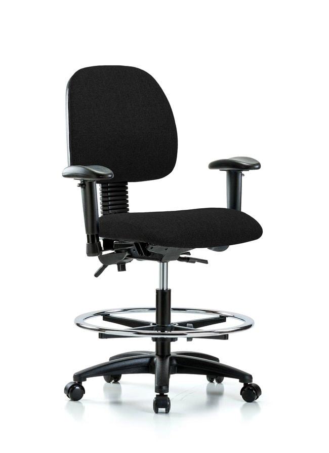 FisherbrandFabric Chair - Medium Bench Height with Medium Back, Seat Tilt,