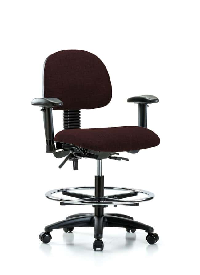 FisherbrandFabric Chair - Medium Bench Height with Seat Tilt, Adjustable