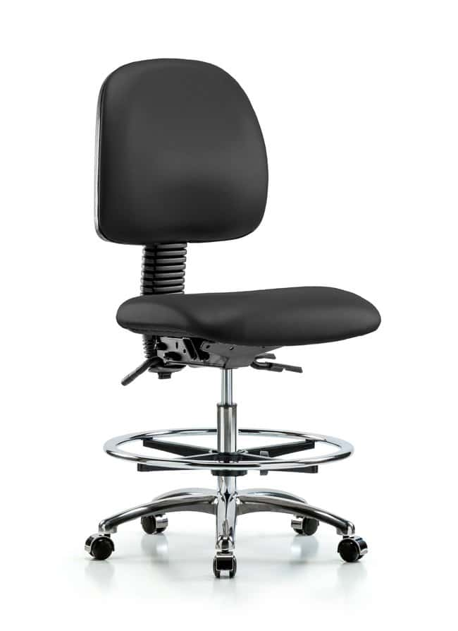Fisherbrand Vinyl Chair Chrome - Medium Bench Height with Medium Back,