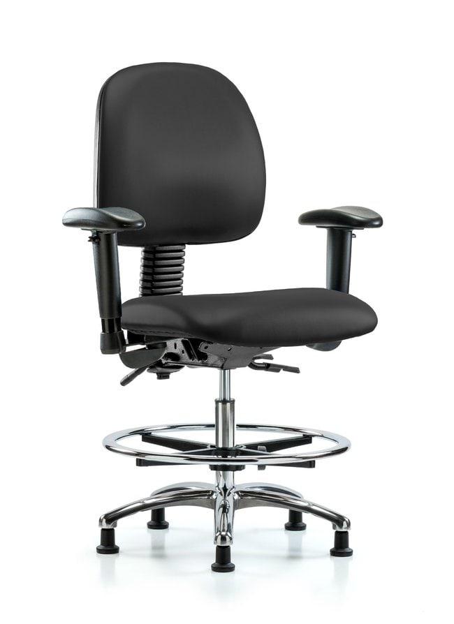 FisherbrandVinyl Chair Chrome - Medium Bench Height with Medium Back, Adjustable