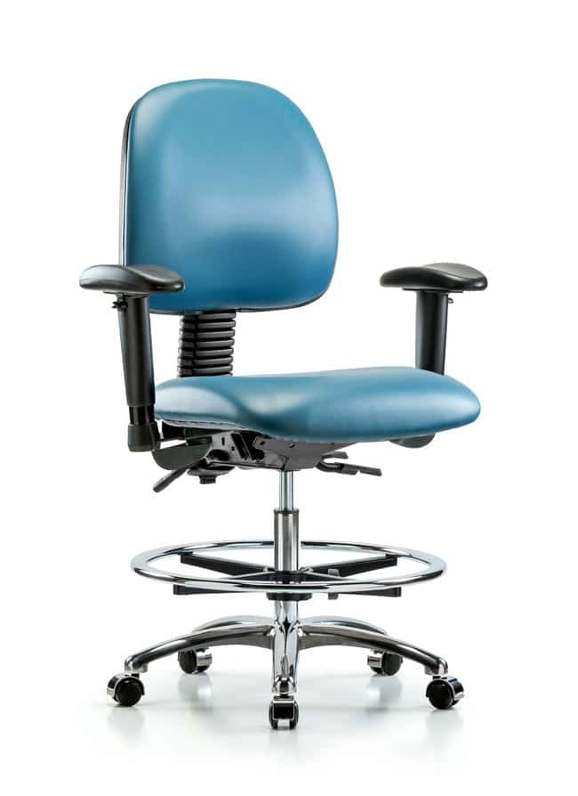 Fisherbrand Vinyl Chair Chrome - Medium Bench Height with Medium Back,