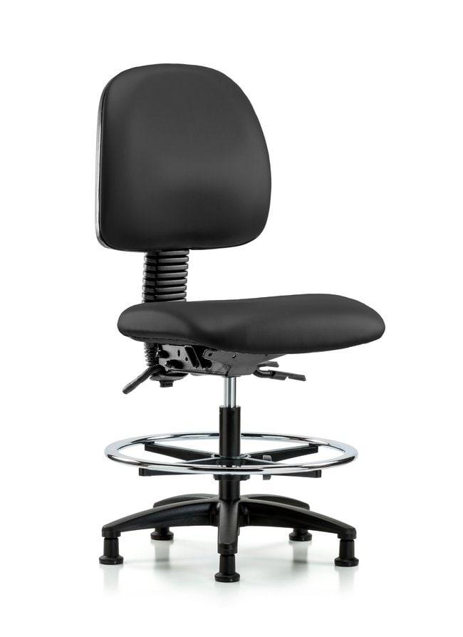Fisherbrand Vinyl Chair - Medium Bench Height with Medium Back, Chrome
