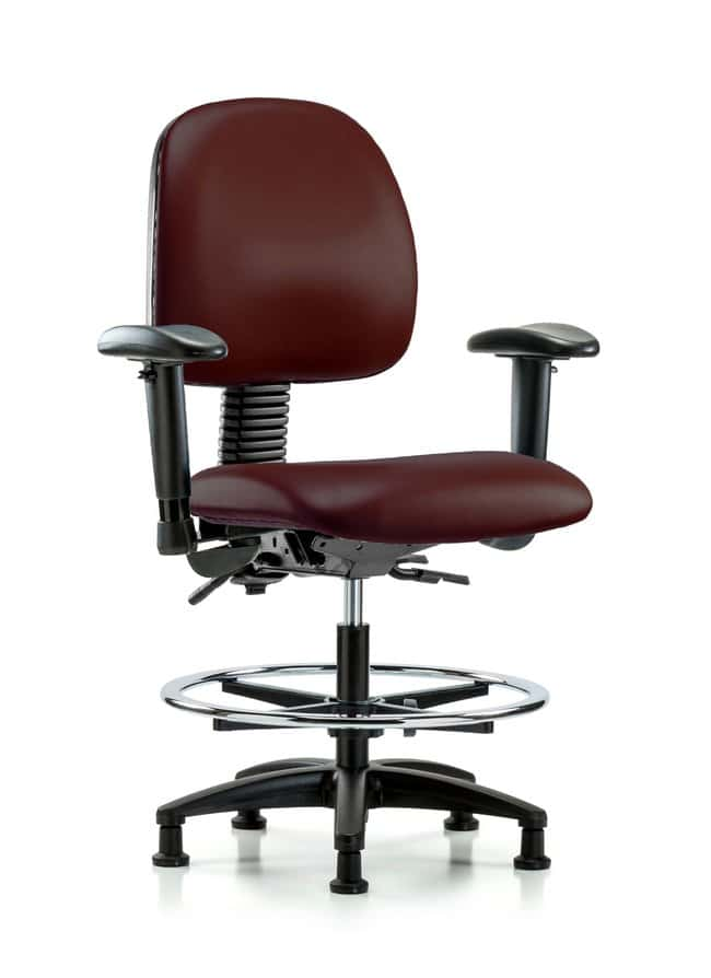 Fisherbrand Vinyl Chair - Med Bench Height with Medium Back, Seat Tilt,