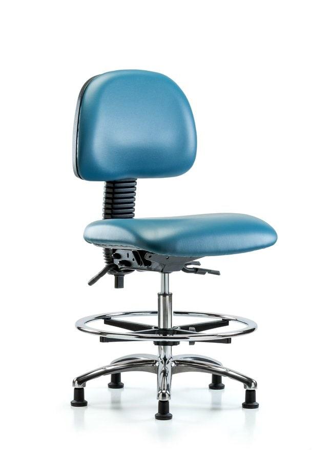 FisherbrandVinyl Chair Chrome - Medium Bench Height with Chrome Foot Ring
